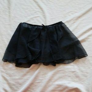 Freestyle Danskin black dance skirt size large